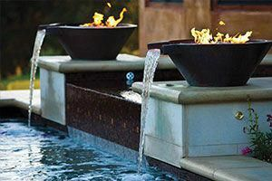 Copper Original Lip Water Fire Bowls Pool Water Features Patio Water Feature Landscaping Water Feature