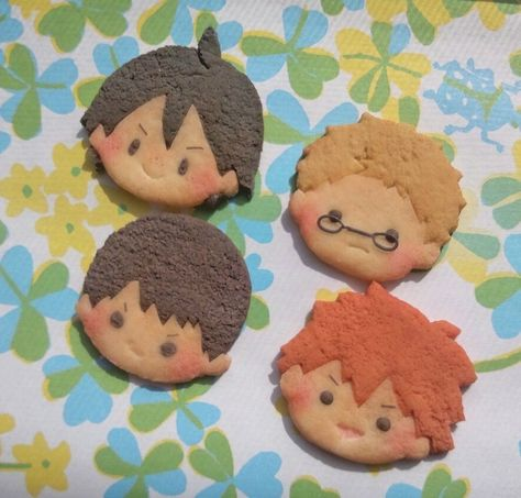 Kreative Desserts, Cute Baking, Anime Crafts, Kawaii Dessert, Japon Illustration, Cute Desserts, Cute Cookies, Cafe Food, Oui Oui