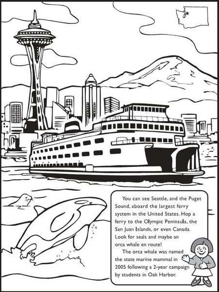 For The Kids The Washington State Coloring Book Washington State Free Coloring Pages Coloring Books