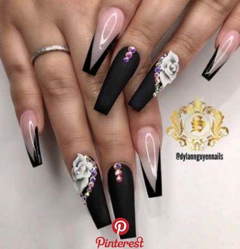 Trendy nails design with rhinestones gel 33+ ideas   Trendy nails design with rhinestones gel 33+ ideas