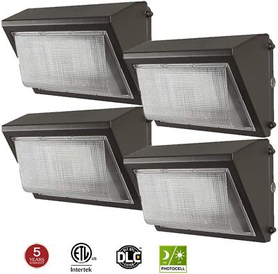 4 Pack Kadision Led Wall Pack 100w With Dusk To Dawn Photocell 5000k 12000lm In 2020 Wall Packs Wall Mounted Light Sconces Wall Lamps