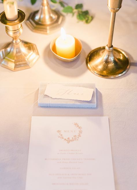 Reception Candlelight Dinner Tile Place Cards Zimmerman