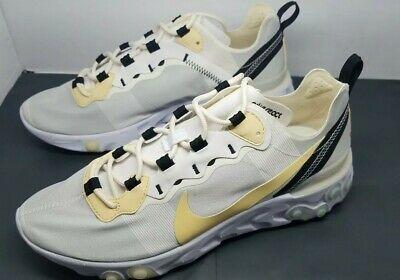 Nike React Element 55 Soft Yellow White