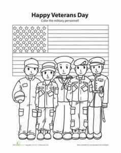 The Eagle Holding Us Flag On Veterans Day Coloring Page Usa
