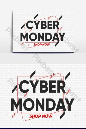 Cyber Monday Design Vector Graphic Element Png Images Ai Free Download Pikbest Cyber Monday Design Black Friday Poster Glitch Text