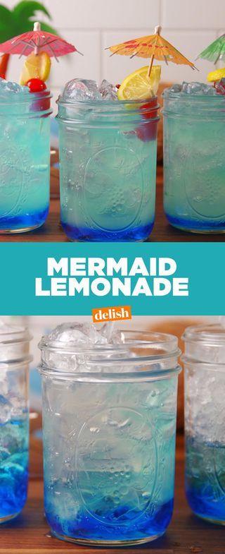 Mermaid Lemonade Will Bring Out Your Inner Ariel Drinks Party Drinks Summer Drinks