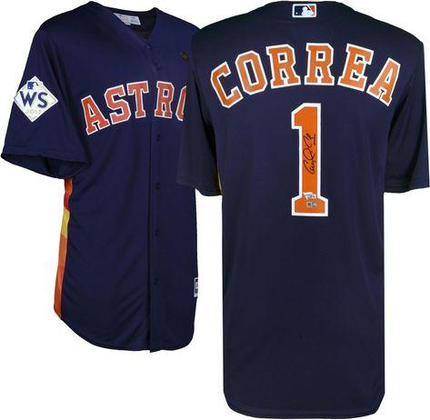 2aa1b3043 Carlos Correa Astros 2017 World Series Autographed Jersey - Fanatics   sportsmemorabilia  autograph  jersey