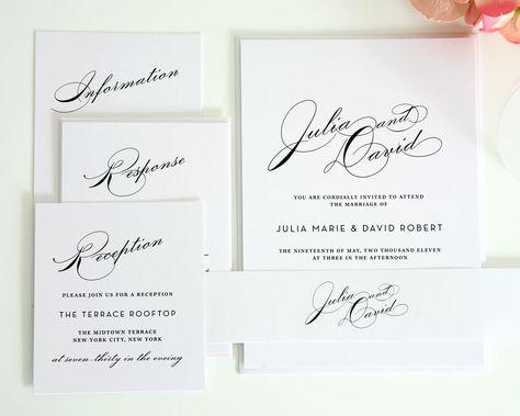 Vintage Glam Wedding Invitation Set