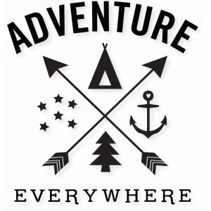 Silhouette Design Store: 'adventure everywhere' word art