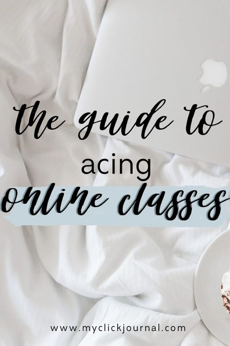 the ultimate guide to online classes and acing online classes! By a college student. Here are the best study tips for online school College Freshman Tips, College Schedule, School Schedule, College Hacks, College Ready, Study Tips For Students, School Study Tips, School Tips, College Study Tips
