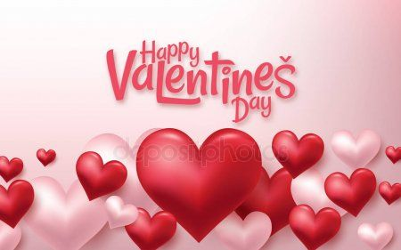 3d Realistic Red Hearts Background With Sweet Happy Valentines Day Vector Illus Ad Happy Valentines Day Business Cards Creative Templates Heart Background