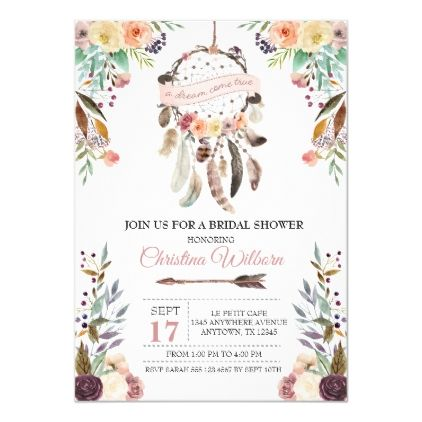 Dreamcatcher Bridal Shower Invite Corjl Printable Bridal Shower Invitation Template Boho Bridal Shower Invitation EDITABLE Invitation