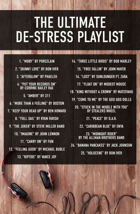 TOP DE-STRESS PLAYLIST
