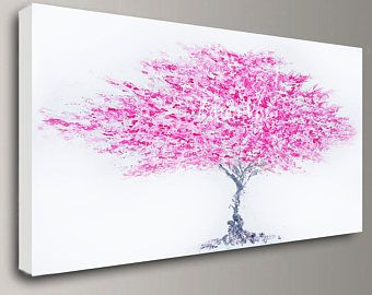 Abstract Painting Acrylic Multi Colour Trees Art Original Etsy Pink Abstract Art Abstract Art Painting Large Canvas Wall Art
