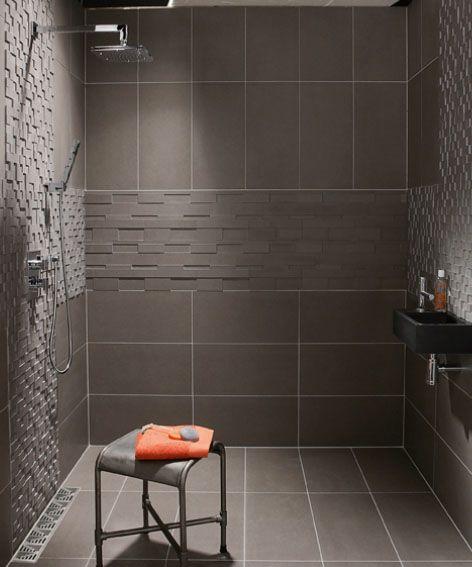 Douche à lu0027italienne - Leroy-Merlin Bath, Bath shower and Bathroom - pose pave de verre exterieur