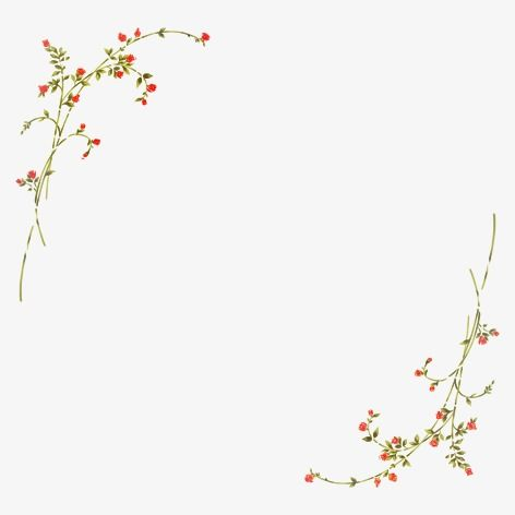 Simple Flowers Border Flowers Border Simple Border Hand Painted Flowers Png Transparent Clipart Image And Psd File For Free Download Flower Border Flower Border Png Simple Flowers
