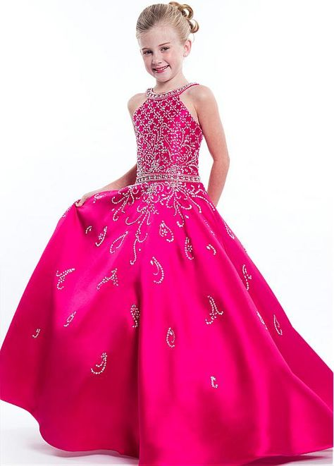 ecf756330421 Magbridal Amazing Satin Jewel Neckline Cut-out A-line Flower Girl Dress  With Beadings