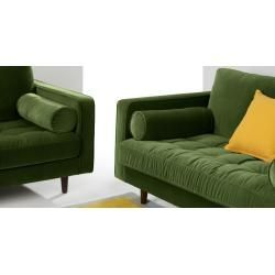 Scott 3 Sitzer Sofa Samt In Grasgruen Made Commade Com In 2020 3 Seater Sofa Seater Sofa Sofa