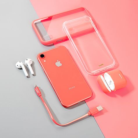 Getting the new Coral iPhone Xr? We've got you covered 😎  Featuring: LINK DUO Lightning Cable ACCENTS Tempered Glass Case CRYSTAL-X Tempered Glass Case POD case for AirPod  Check them all out on our website.