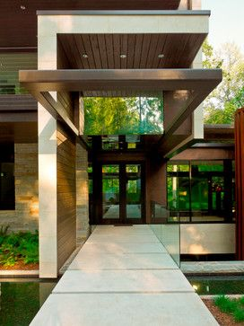 Awesome Amazing Modern Houses Entrances Images   Simple Design Home .