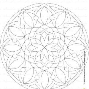 Coloring Mandela تلوين للكبار مطبوعات مجانية Mandala Drawing Decor Decorative Plates Home Decor