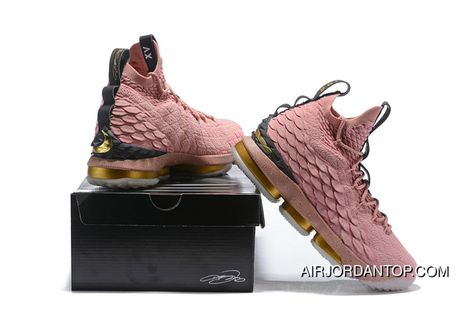 half off c24d6 69c3c ... cheapest nike lebron 15 all star 897650 600 mens basketball shoes rust  pink metallic gold black