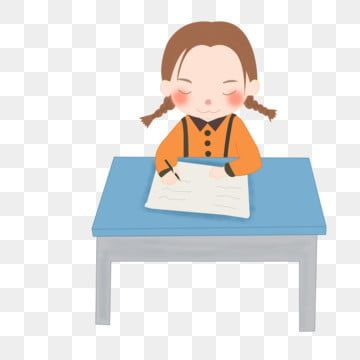 Doing Homework Write Homework Primary School Student Girl Writing Clipart Lovely Serious Png Transparent Clipart Image And Psd File For Free Download Primary School Student Girl Do Homework