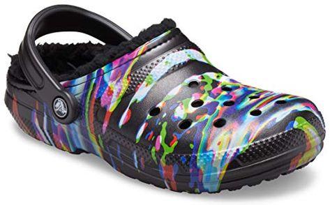 Crocs Men's and Women's Classic Tie Dye Lined Clog | Fuzzy Slippers | Jodyshop