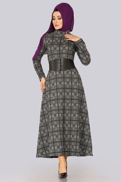 Modaselvim Elbise Bogazli Kislik Elbise 5443mp186 Desen6 Dresses High Neck Dress Dresses For Work