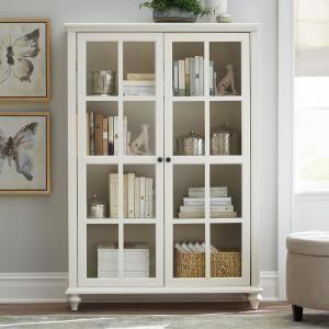 Home Decorators Collection Hamilton Polar White Glass Door