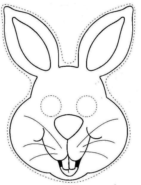 máscara de coelho para colorir e imprimir  coelho