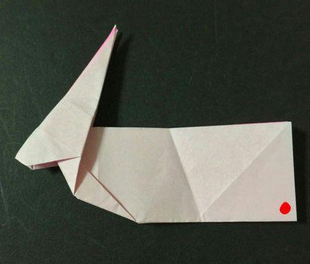 お月見のうさぎの折り紙での折り方 とっても簡単です お月見 うさぎ 折り紙 折り紙