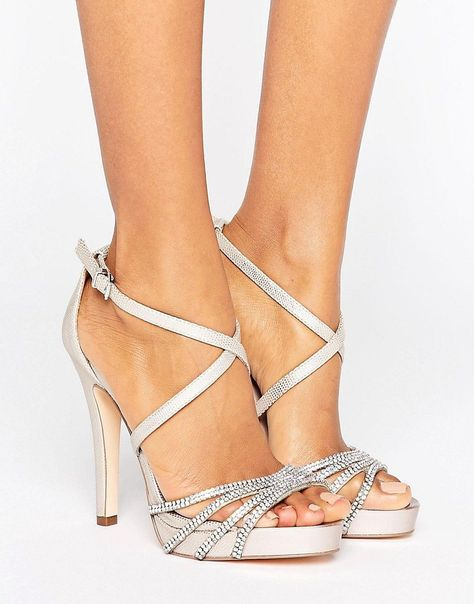 c895dd0734e Faith Leslie Embellished Strap Heeled Sandals - Pink