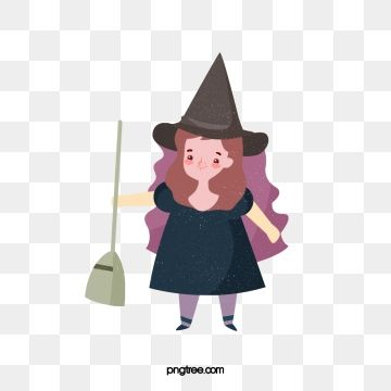 Halloween Cute Witch Broom Illustration Witch Exquisite Copyrighted Png Transparent Clipart Image And Psd File For Free Download Cartoon Clip Art Simple Cartoon Cute Clipart