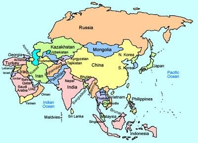 Continent Of Asia Map.Asia Interactive Map With Images Asia Map Geography For Kids