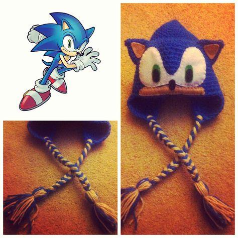 Crochet Sonic The Hedgehog Beanie  54f95ee85ec