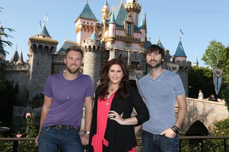 Pin for Later: See All the Stars at Disneyland!  Lady Antebellum visited the Anaheim, CA, park in April 2013.
