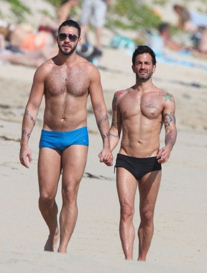 Wear - if you dare brief swimming trunks - Marc Jacobs and Lorenzo Martone