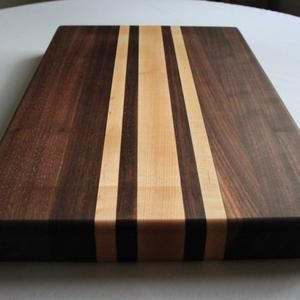 Walnut /& Sapele Cutting Board Rough Edge Maple