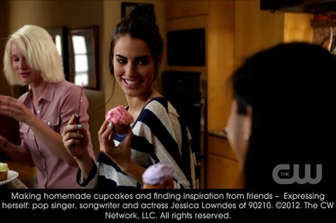 Making homemade cupcakes and finding inspiration from friends - Expressing herself: pop singer, songwriter and actress Jessica Lowndes