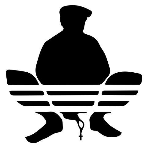 Squatting Gopnik Slav Logo Framed Art Print By The Internet Store