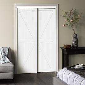 Reliabilt White Sliding Bypass Door 60 Trident At Lowes Com Wood Sliding Closet Doors Sliding Closet Doors Closet Doors