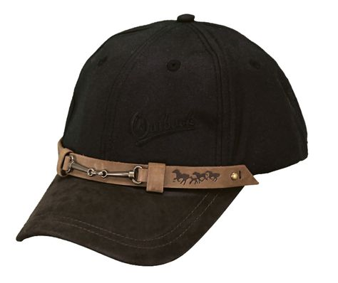 Outback Trading Co Out of The Chute Mens Hat Black Australian Wool UPF50