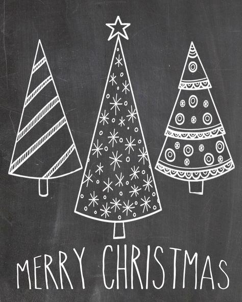 chalkboard merry christmas - Google Search   Christmas ...