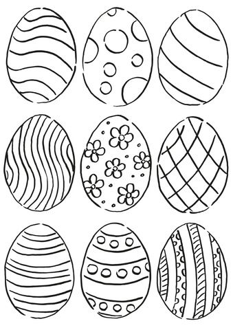 Easter Eggs Pattern Coloring Page Easter Egg Coloring Pages Coloring Easter Eggs Easter Coloring Pictures