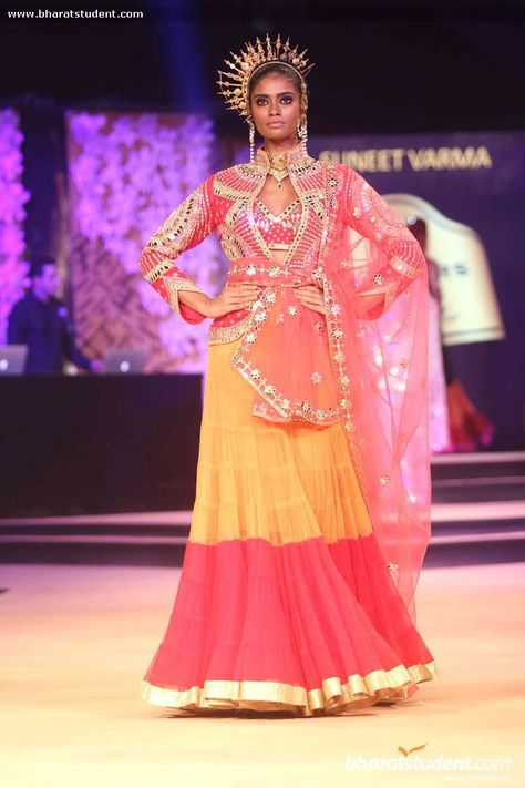 Lengha by Suneet Varma at Blenders Pride Fashion Tour 2014