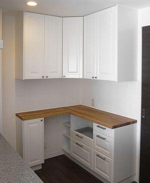 セミオーダー食器棚の事例 マンション江東区 w130cm 食器棚 Ikea