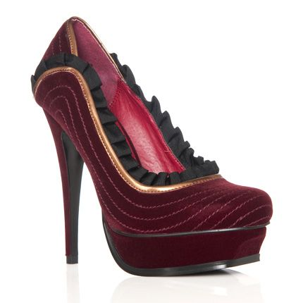 Red velvet shoes with sass!