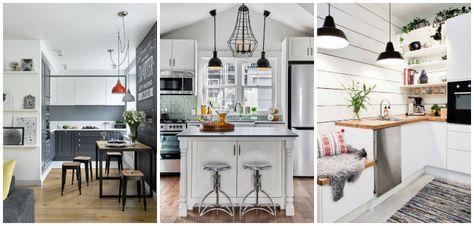 Come Arredare Una Cucina Piccola Illuminazione Cucine Rustiche