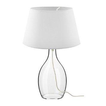 IKEA BRAN Table lamp base, clear glass 30 cm: Amazon.co